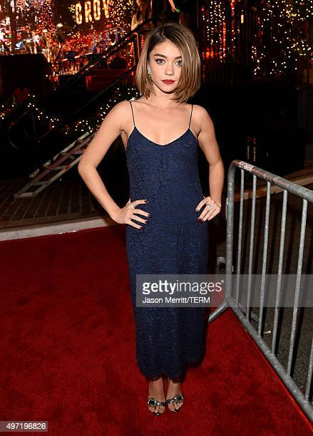 Actress Sarah Hyland attends The Grove Christmas with Seth MacFarlane at The Grove on November 14 2015 in Los Angeles California