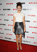 Actress Sarah Hyland attends the Nylon October IT issue celebration and launch of the Hello Kitty and Forever 21 collaboration at The London West...