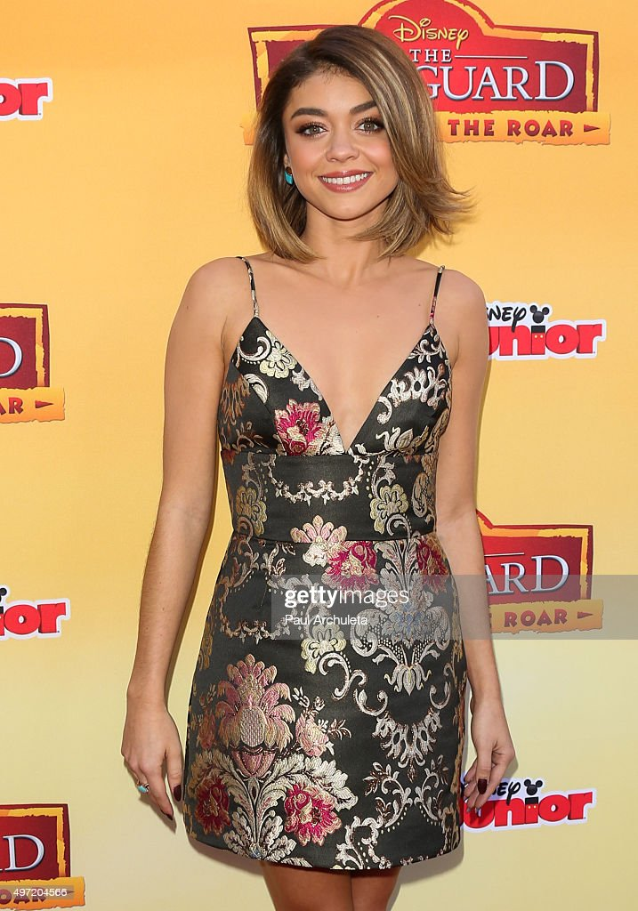 Actress Sarah Hyland attends the premiere of Disney Channel's 'The Lion Guard Return Of The Roar' at Walt Disney Studios on November 14 2015 in...