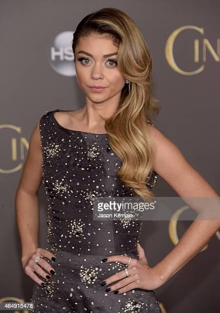 Actress Sarah Hyland attends the premiere of Disney's 'Cinderella' at the El Capitan Theatre on March 1 2015 in Hollywood California
