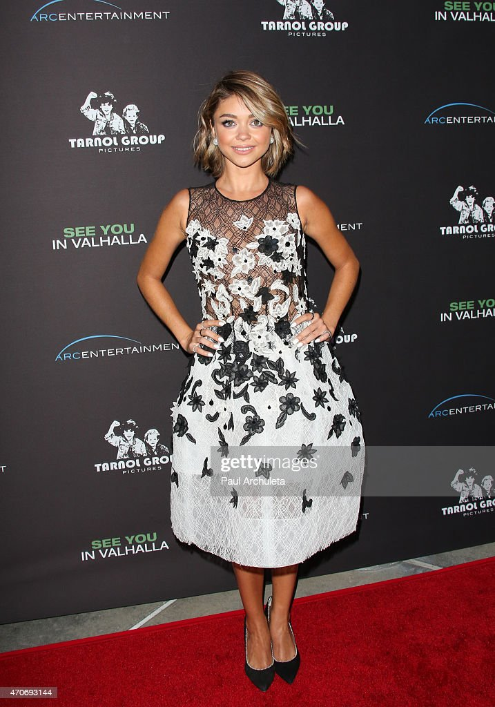 Actress Sarah Hyland attends the premiere of 'See You In Valhalla' at ArcLight Cinemas on April 21 2015 in Hollywood California
