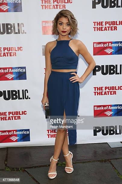 Actress Sarah Hyland attends The Public Theater's Opening Night Of 'The Tempest' at Delacorte Theater on June 16 2015 in New York City