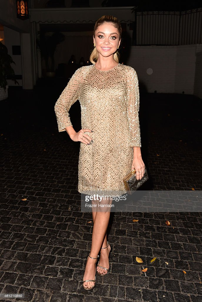 Actress Sarah Hyland attends the W Magazine celebration of the 'Best Performances' Portfolio and The Golden Globes with Cadillac and Dom Perignon at Chateau Marmont on January 8, 2015 in Los Angeles, California.