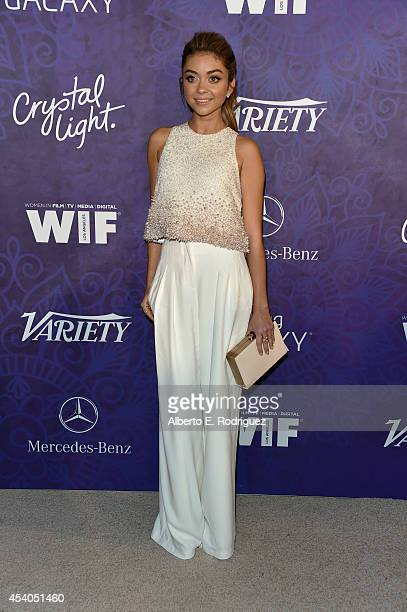 Actress Sarah Hyland attends Variety and Women in Film Emmy Nominee Celebration powered by Samsung Galaxy on August 23 2014 in West Hollywood...