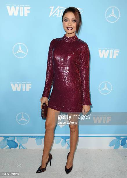 Actress Sarah Hyland attends Variety and Women In Film's 2017 preEmmy celebration at Gracias Madre on September 15 2017 in West Hollywood California