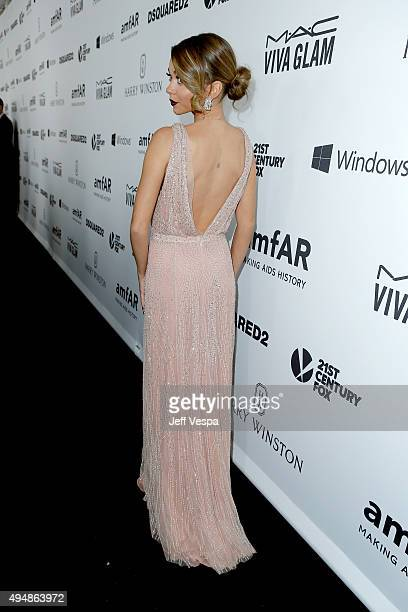 Actress Sarah Hyland fashion detail attends amfAR's Inspiration Gala Los Angeles at Milk Studios on October 29 2015 in Hollywood California