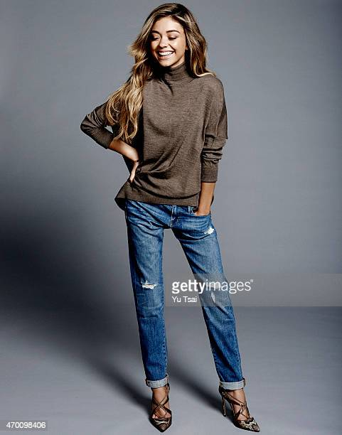 Actress Sarah Hyland is photographed for Self Assignment on September 22 2014 in Los Angeles California