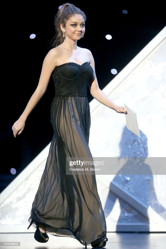 Actress <a gi-track='captionPersonalityLinkClicked' href=/galleries/search?phrase=Sarah+Hyland&family=editorial&specificpeople=3989646 ng-click='$event.stopPropagation()'>Sarah Hyland</a> onstage at the American Giving Awards presented by Chase held at the Pasadena Civic Auditorium on December 7, 2012 in Pasadena, California.