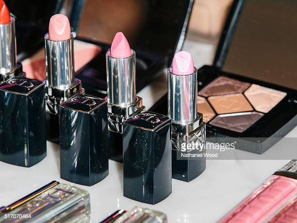 Actress Sarah Hyland's Dior Beauty product lineup for the SAG Awards is photographed for InStylecom on January 30 2016 in Los Angeles California