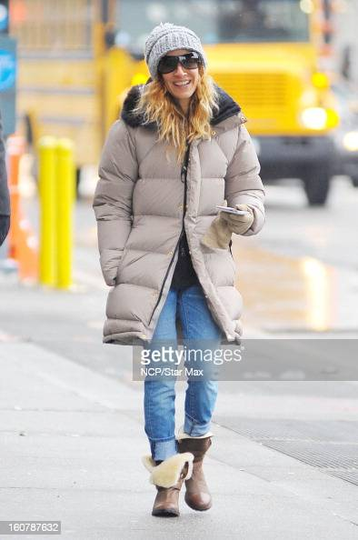 Actress Sarah Jessica as seen on February 5 2013 in New York City