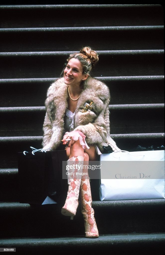 Actress Sarah Jessica Parker acts in a scene from the HBO television series 'Sex and the City' third season episode 'Where There's Smoke'