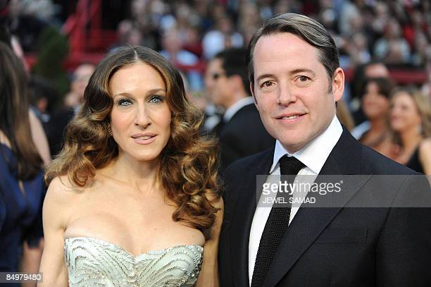 Actress Sarah Jessica Parker and her husband actor Matthew Broderick arrive at the 81st Academy Awards at the Kodak Theater in Hollywood California...