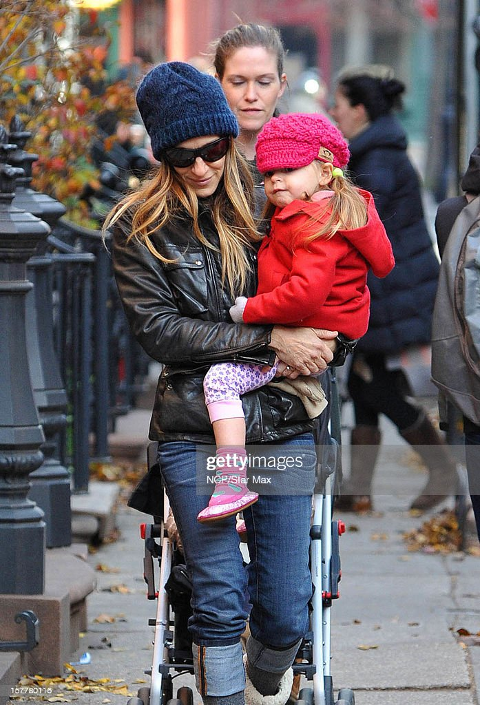 Actress Sarah Jessica Parker and Marion Broderick are seen on December 6, 2012 in New York City.