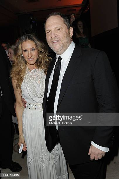 Actress Sarah Jessica Parker and Producer Harvey Weinstein attend The Weinstein Company VIP Press Event at the Martinez Hotel during the 64th Cannes...
