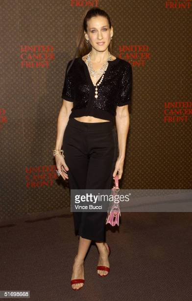 Actress Sarah Jessica Parker arrives at The Louis Vuitton United Cancer Front Gala on November 8 2004 in Universal City California