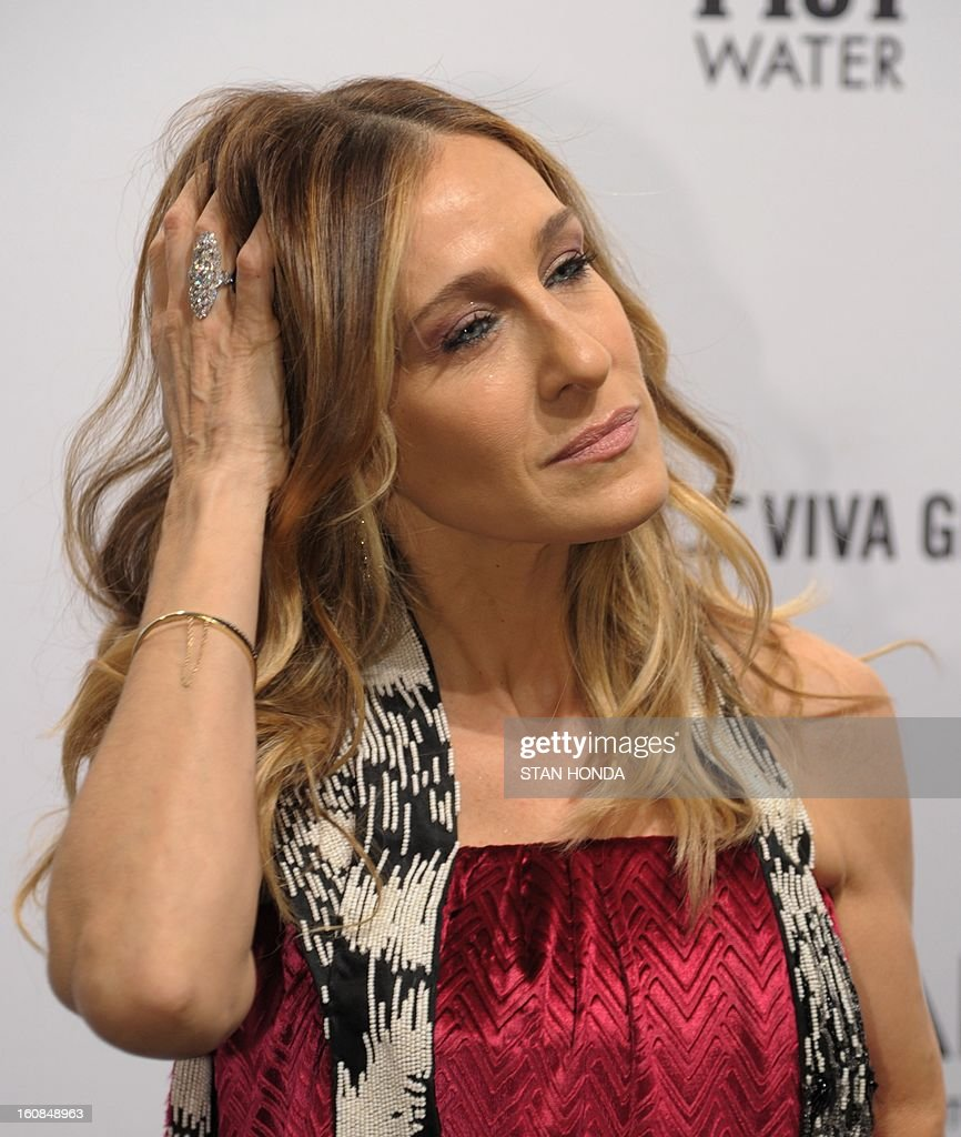 Actress Sarah Jessica Parker arrrives at the amfAR (The Foundation for AIDS Research) gala that kicks off the Mercedes-Benz Fashion Week February 6, 2013 in New York. AFP PHOTO/Stan HONDA