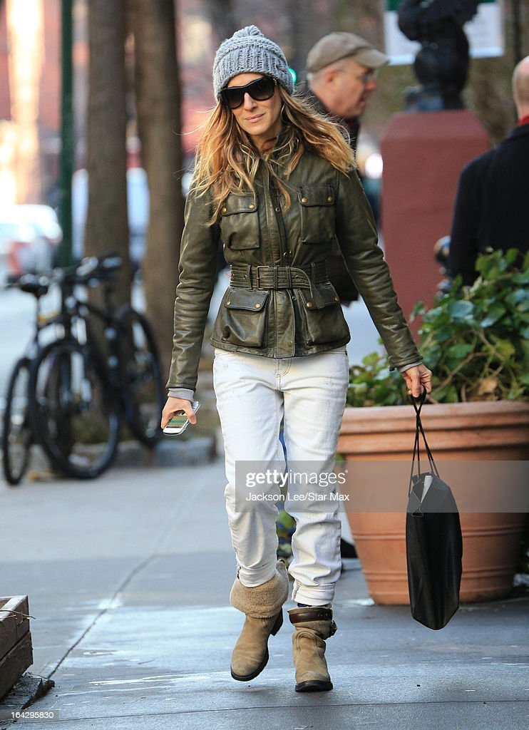Actress Sarah Jessica Parker as seen on March 13, 2013 in New York City.