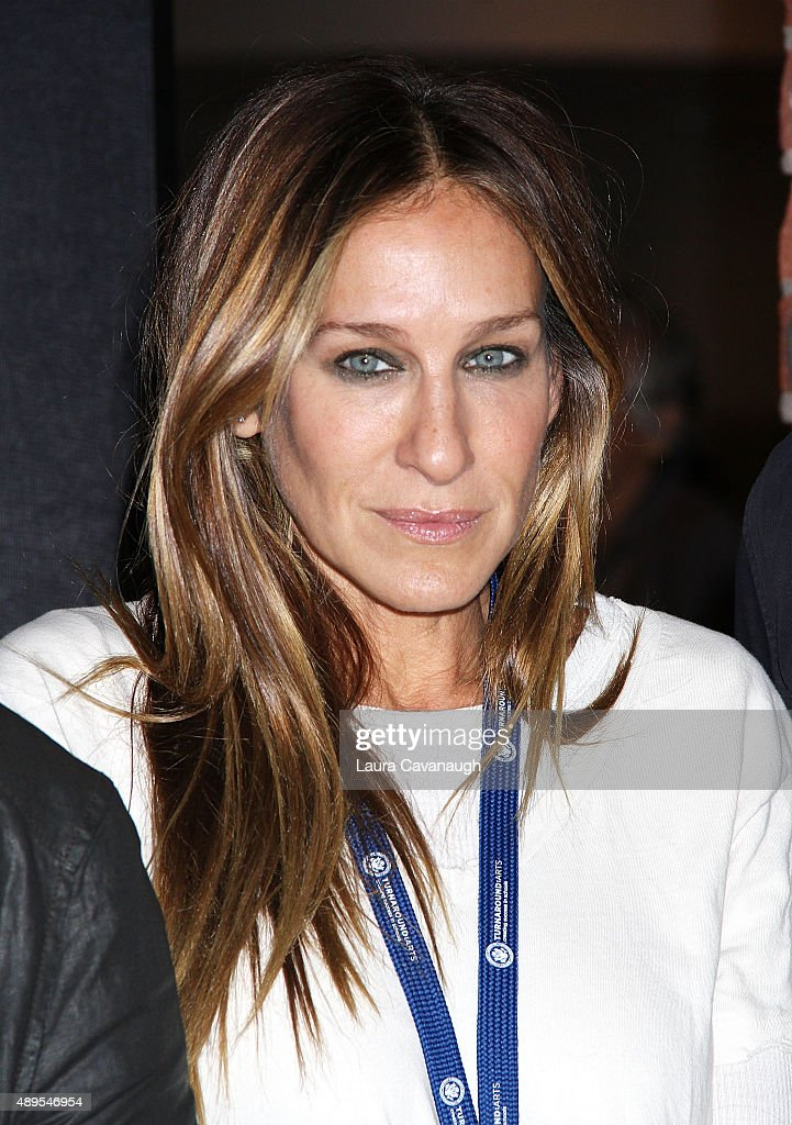 Actress Sarah Jessica parker attends a press conference launching Turnaround Arts in NYC Schools at the Brooklyn Museum on September 22 2015 in the...
