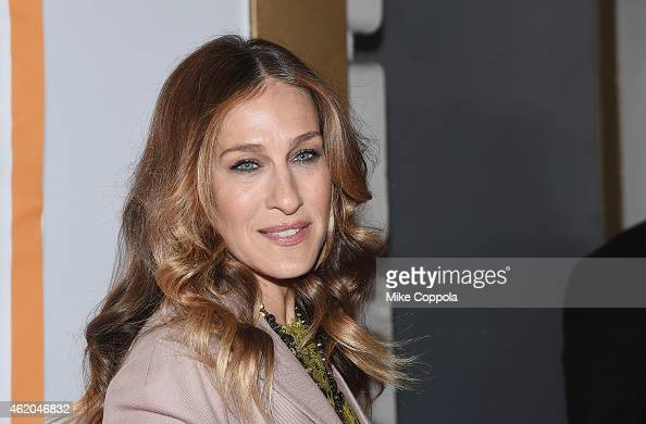 Actress Sarah Jessica Parker attends 'It's Only A Play' Broadway ReOpening Night at The Bernard B Jacobs Theatre on January 23 2015 in New York City