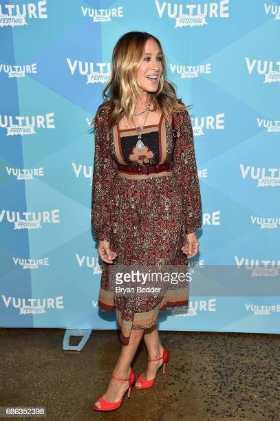 Actress Sarah Jessica Parker attends Sarah Jessica Parker and Adam Moss In Conversation during the 2017 Vulture Festival at Milk Studios on May 21...