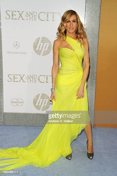 Actress Sarah Jessica Parker attends 'Sex And The City 2' Premiere presented by MercedesBenz And Maybach at Radio City Music Hall on May 24 2010 in...