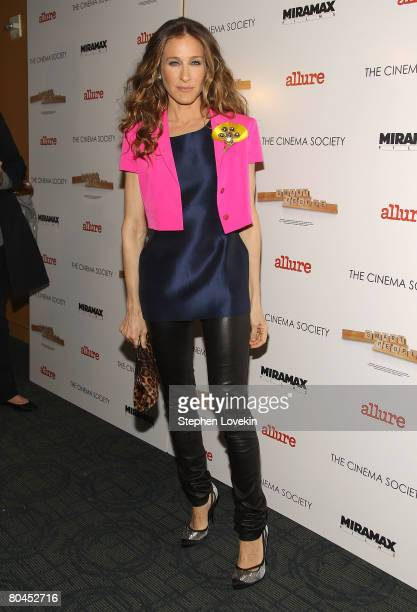 Actress Sarah Jessica Parker attends 'Smart People' screening hosted by the Cinema Society Linda Wells at the Landmark Sunshine Theater on March 31...