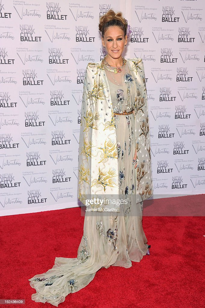 Actress Sarah Jessica Parker attends the 2012 New York City Ballet Fall Gala at the David H Koch Theater Lincoln Center on September 20 2012 in New...