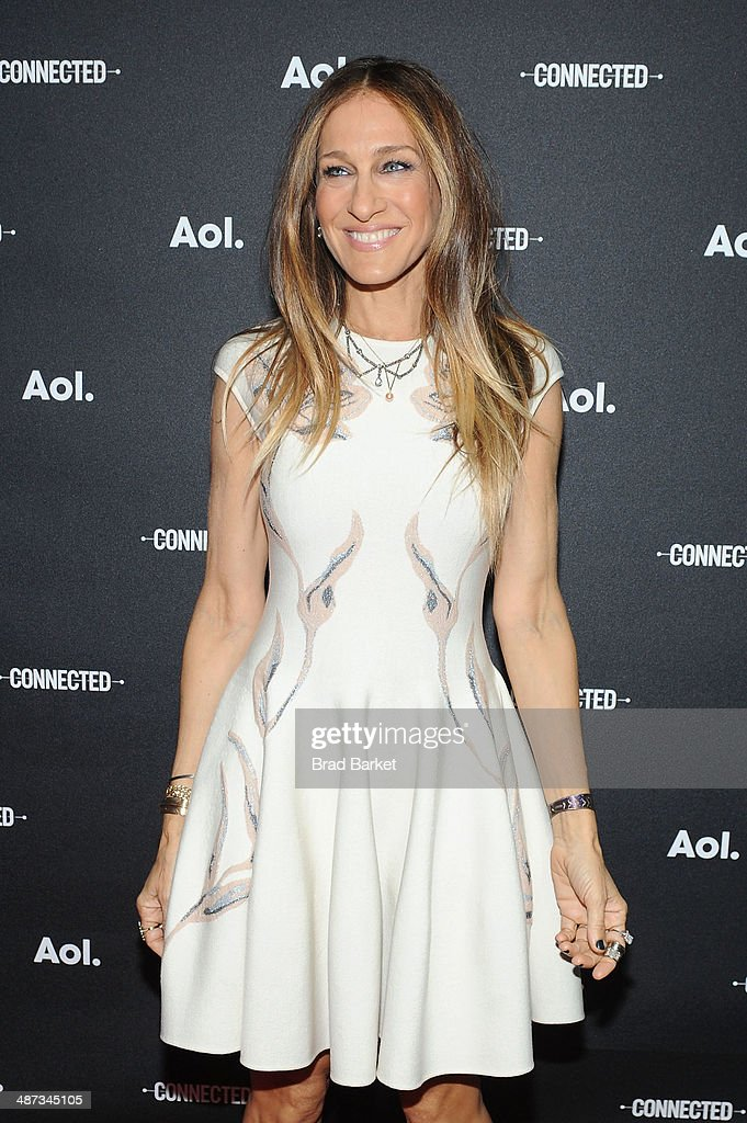 Actress <a gi-track='captionPersonalityLinkClicked' href=/galleries/search?phrase=Sarah+Jessica+Parker&family=editorial&specificpeople=201693 ng-click='$event.stopPropagation()'>Sarah Jessica Parker</a> attends the 2014 AOL NewFronts at Duggal Greenhouse on April 29, 2014 in New York, New York.