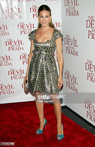 Actress Sarah Jessica Parker attends the 20th Century Fox premiere of The Devil Wears Prada at the Loews Lincoln Center Theatre on June 19 2006 in...