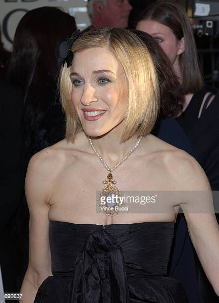 Actress Sarah Jessica Parker attends the 59th Annual Golden Globe Awards at the Beverly Hilton Hotel January 20 2002 in Beverly Hills CA