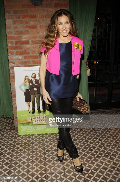 Actress Sarah Jessica Parker attends the afterparty for a screening of 'Smart People' at The Bowery Hotel on March 31 2008 in New York City