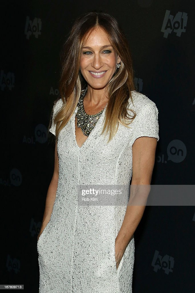 Actress <a gi-track='captionPersonalityLinkClicked' href=/galleries/search?phrase=Sarah+Jessica+Parker&family=editorial&specificpeople=201693 ng-click='$event.stopPropagation()'>Sarah Jessica Parker</a> attends the AOL 2013 Digital Content NewFront on April 30, 2013 in New York City.