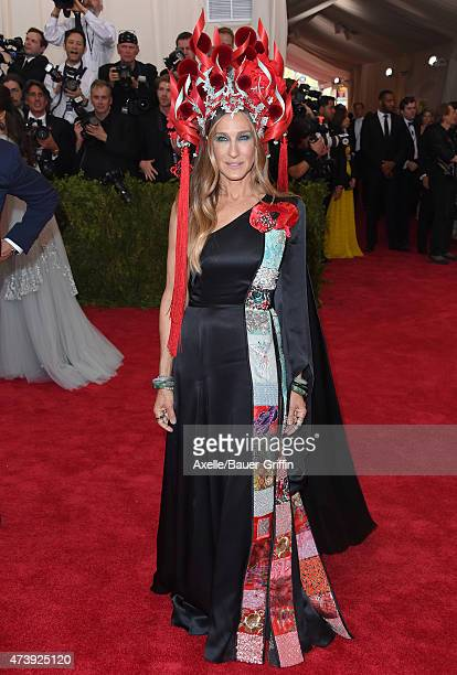 Actress Sarah Jessica Parker attends the 'China Through The Looking Glass' Costume Institute Benefit Gala at the Metropolitan Museum of Art on May 4...