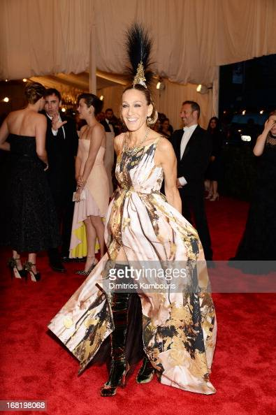 Actress Sarah Jessica Parker attends the Costume Institute Gala for the 'PUNK Chaos to Couture' exhibition at the Metropolitan Museum of Art on May 6...