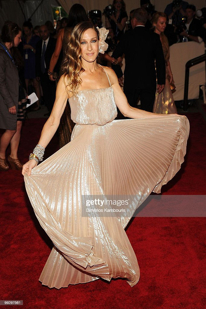 Actress Sarah Jessica Parker attends the Costume Institute Gala Benefit to celebrate the opening of the 'American Woman: Fashioning a National Identity' exhibition at The Metropolitan Museum of Art on May 3, 2010 in New York City.