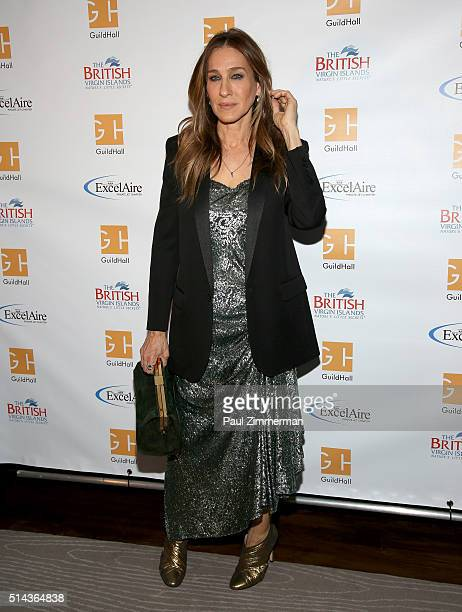 Actress Sarah Jessica Parker attends the Guild Hall Of East Hampton Academy Of The Arts Lifetime Achievement Awards 2016 at The Rainbow Room on March...