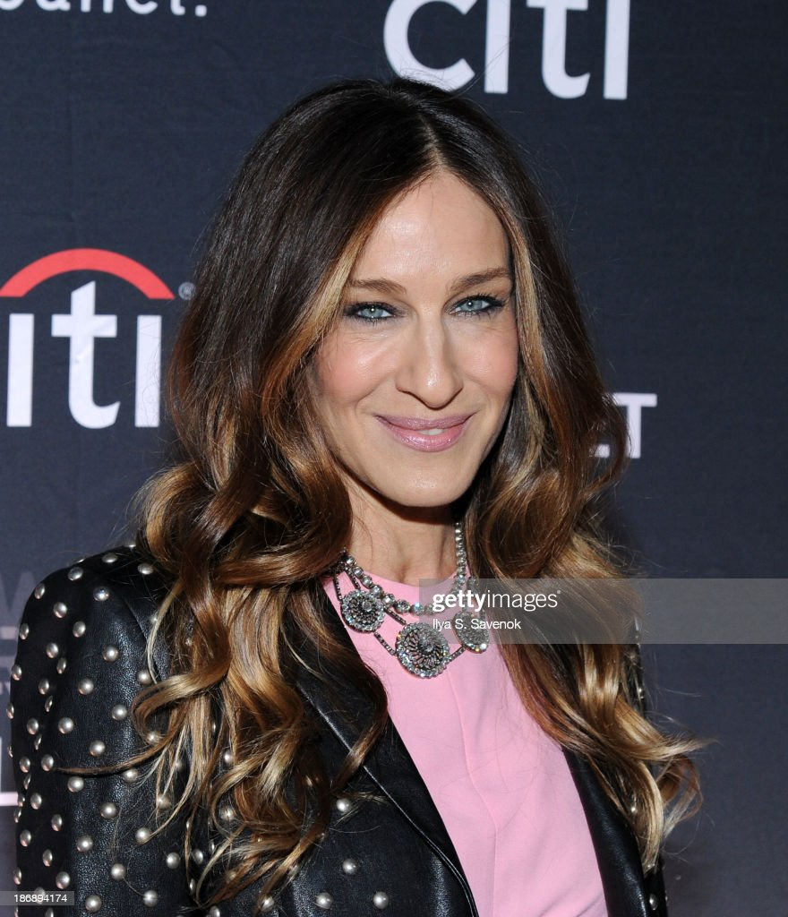 Actress <a gi-track='captionPersonalityLinkClicked' href=/galleries/search?phrase=Sarah+Jessica+Parker&family=editorial&specificpeople=201693 ng-click='$event.stopPropagation()'>Sarah Jessica Parker</a> attends the New York series premiere of 'city.ballet.' at Tribeca Cinemas on November 4, 2013 in New York City.