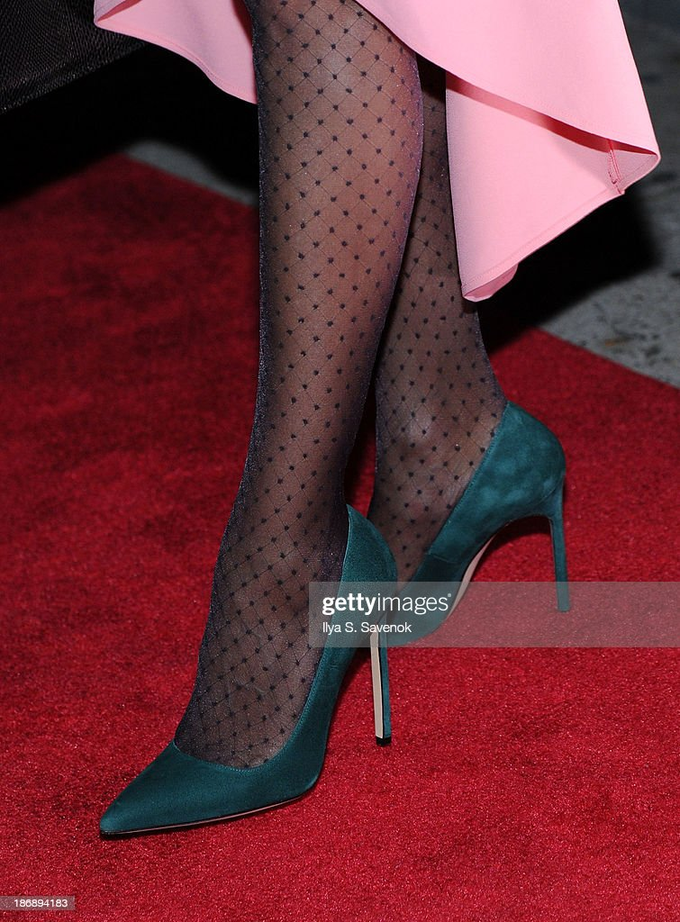 Actress Sarah Jessica Parker (shoe detail) attends the New York series premiere of 'city.ballet.' at Tribeca Cinemas on November 4, 2013 in New York City.