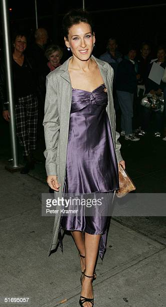 Actress Sarah Jessica Parker attends the play opening of Roundabout Theatre Comany's 'The Foreigner' on November 7 2004 in New York City
