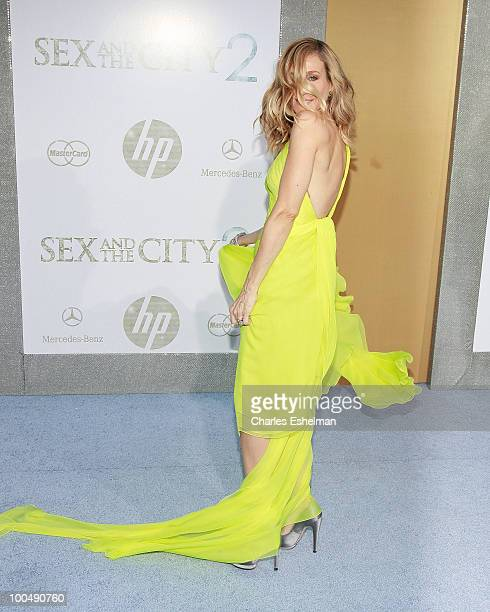 Actress Sarah Jessica Parker attends the premiere of 'Sex and the City 2' at Radio City Music Hall on May 24 2010 in New York City