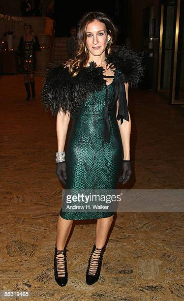 Actress Sarah Jessica Parker attends the School of American Ballet's winter ball at Lincoln Center on March 9 2009 in New York City