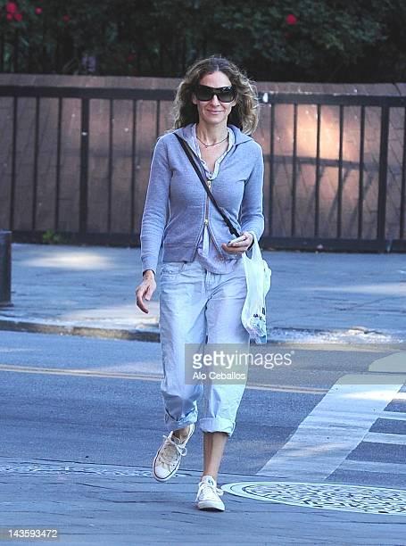 Actress Sarah Jessica Parker is seen in the West Village at Streets of Manhattan on April 30 2012 in New York City