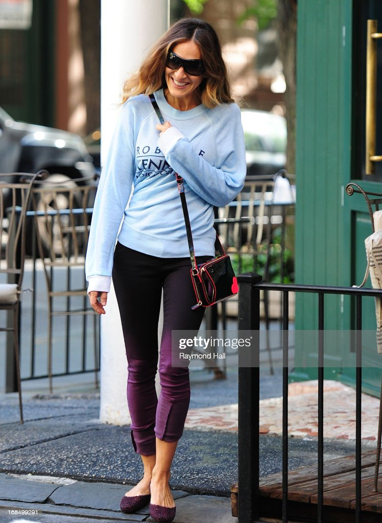 Actress Sarah Jessica Parker is seen in the West Village on May 10, 2013 in New York City.