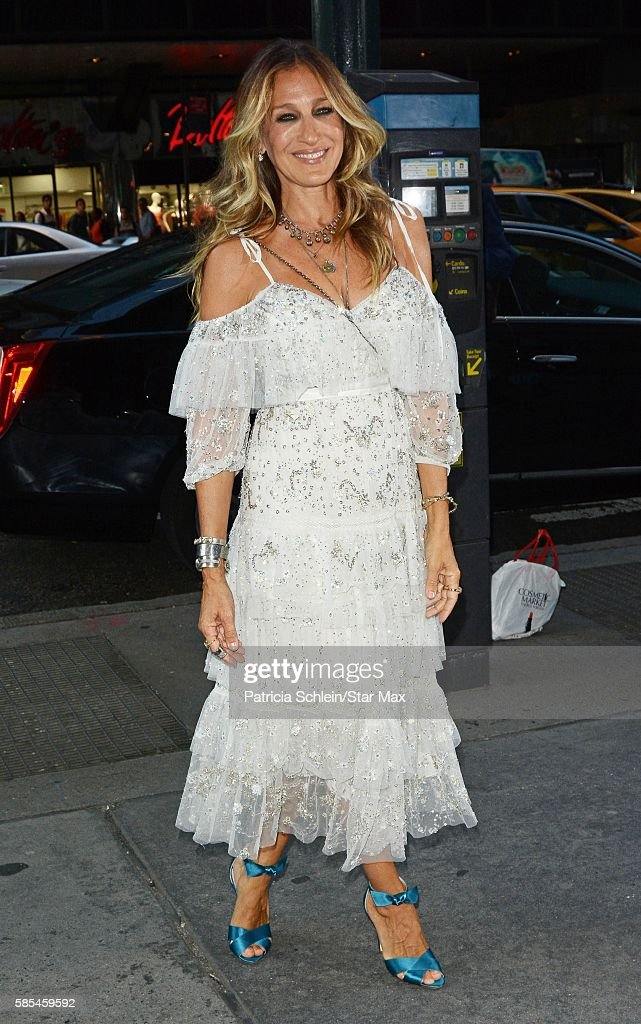 Actress Sarah Jessica Parker is seen on August 2 2016 in New York City