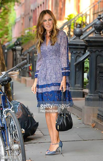 Actress Sarah Jessica Parker is seen walking in Soho on September 17 2015 in New York City
