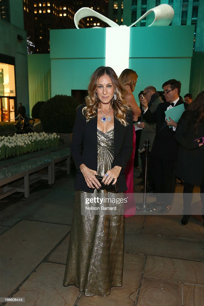 Actress <a gi-track='captionPersonalityLinkClicked' href=/galleries/search?phrase=Sarah+Jessica+Parker&family=editorial&specificpeople=201693 ng-click='$event.stopPropagation()'>Sarah Jessica Parker</a> is wearing Diamonds from the Tiffany & Co. 2013 Blue Book Collection as she attends the Tiffany & Co. Blue Book Ball at Rockefeller Center on April 18, 2013 in New York City.