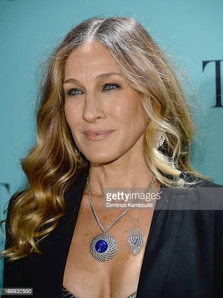 Actress Sarah Jessica Parker is wearing Diamonds from the Tiffany Co 2013 Blue Book Collection as she attends the Tiffany Co Blue Book Ball at...