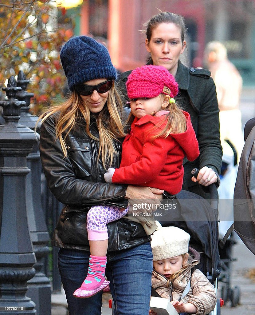 Actress Sarah Jessica Parker, Marion Broderick and Tabitha Broderick are seen on December 6, 2012 in New York City.