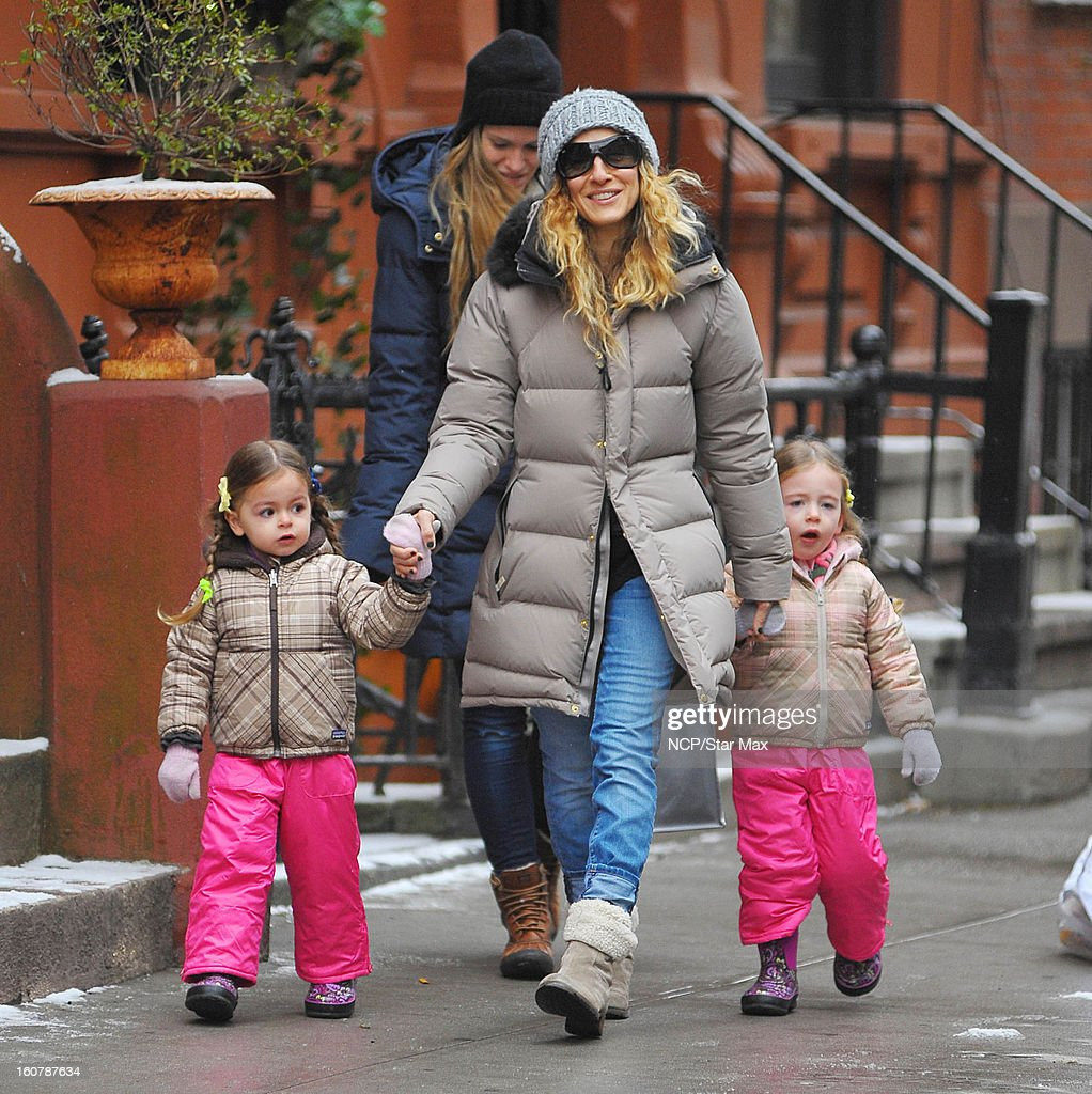 Actress <a gi-track='captionPersonalityLinkClicked' href=/galleries/search?phrase=Sarah+Jessica+Parker&family=editorial&specificpeople=201693 ng-click='$event.stopPropagation()'>Sarah Jessica Parker</a>, <a gi-track='captionPersonalityLinkClicked' href=/galleries/search?phrase=Marion+Loretta+Elwell+Broderick&family=editorial&specificpeople=5947260 ng-click='$event.stopPropagation()'>Marion Loretta Elwell Broderick</a> and <a gi-track='captionPersonalityLinkClicked' href=/galleries/search?phrase=Tabitha+Hodge+Broderick&family=editorial&specificpeople=5947262 ng-click='$event.stopPropagation()'>Tabitha Hodge Broderick</a> as seen on February 5, 2013 in New York City.