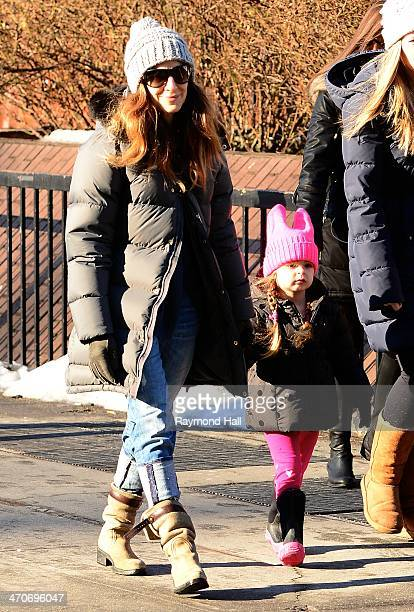 Actress Sarah Jessica Parker Marion Loretta Elwell Broderick are seen in the West Village on February 20 2014 in New York City